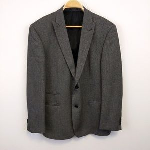 John Varvatos Grey Herringbone 2 Button Blazer 42R